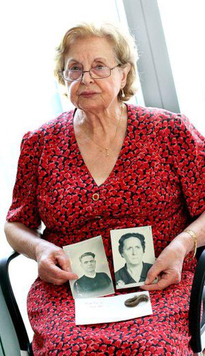 La hija de José Celda, en una imagen de archivo.