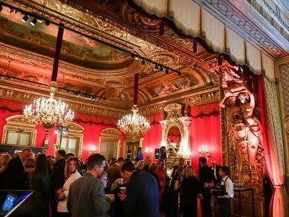 Vista interior del casino de Baden-Baden, en 2019.