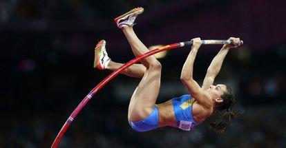 Salto de Yelena Isinbayeva en Londres