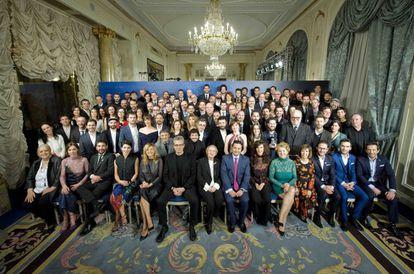 Foto de familia de los candidatos a los Goya.