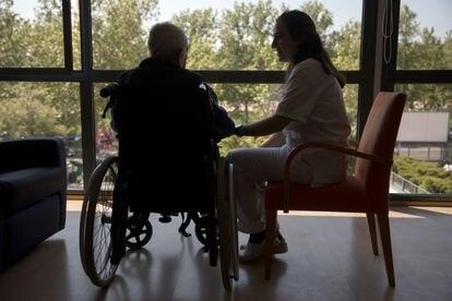 Pacientes de la planta de cuidados paliativos en el Centro de Cuidados Laguna , Madrid.