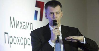 El candidato presidencial ruso Mijaíl Prójorov.