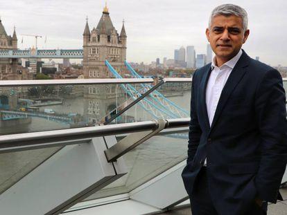 El alcalde de Londres, Sadiq Khan, este viernes.