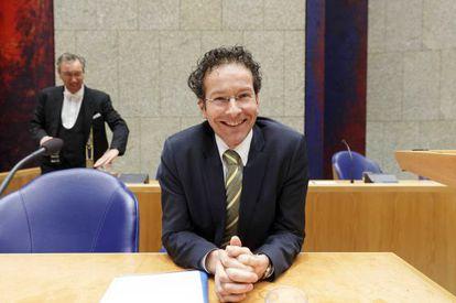 Jeroen Dijsselbloem, durante una sesión del Parlamento holandés la semana pasada.
