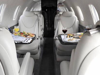 Interior de uno de los aviones de Gestair, en una foto facilitada por la compañía.
