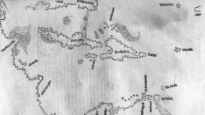 Primer mapa del Caribe (1514) del obispo Fonseca.