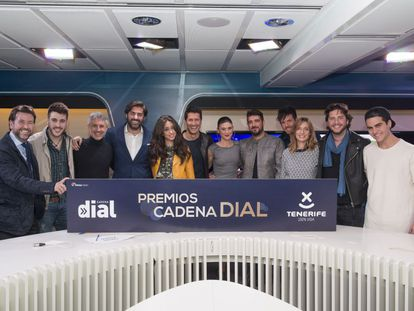 Rueda de prensa con los galardonados en los premios Cadena Dial.