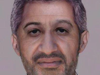 Recreación de Bin Laden que hizo el FBI con la imagen de Llamazares.