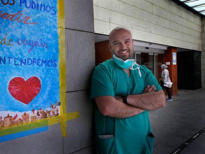 Javier Sotoca, en el Hospital de Terrassa.