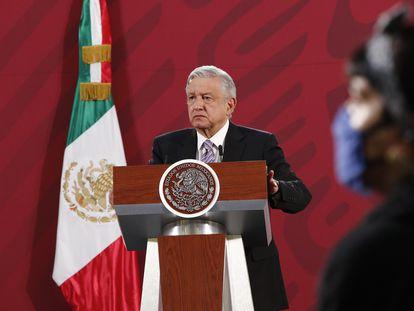 López Obrador, este martes durante una rueda de prensa matutina en Palacio Nacional de Ciudad de México.