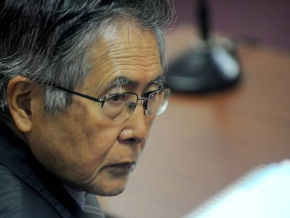 Alberto Fujimori durante un juicio en 2009.