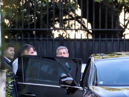 El expresidente francés Nicolas Sarkozy, este jueves, en París.