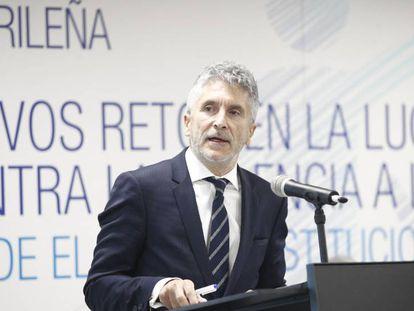 Fernando Grande-Marlaska, ministro del Interior, interviene en las Jornadas sobre la Lucha contra la Violencia en la Infancia en Madrid.
