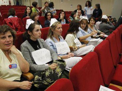 Encierro de trabajadores en el hospital Infanta Leonor.