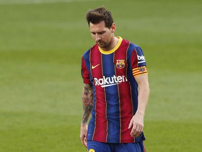 Messi, en el último clásico ante el Madrid.