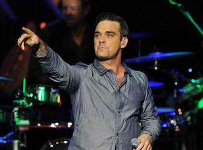 Robbie Williams, uno de los músicos de EMI.