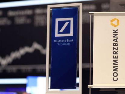 Logotipos de Deutsche Bank y Commerzbank.
