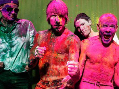 Red Hot Chili Peppers, en una imagen promocional.