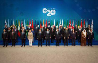 Los líderes de los países reunidos en la cumbre del G20 que se celebra este fin de semana en Brisbane, Australia