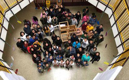 Alumnos del Centro de Educación Infantil, Primaria y Secundaria Cervantes.