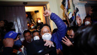Luis Arce, presidente electo de Bolivia, el pasado lunes en La Paz.