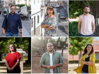 Militantes del PSOE explican a qué candidato votarán en las primarias del PSOE andaluz para la presidencia de la Junta de Andalucía.