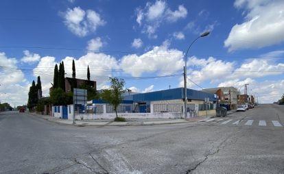 Polígono Industrial en Vallecas, en Madrid.