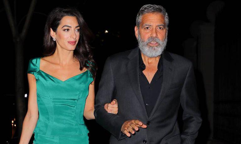 George y Amal Clooney, en una salida por la ciudad de Nueva York.