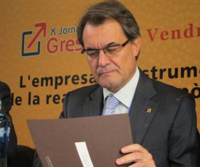 Artur Mas, presidente de la Generalitat.