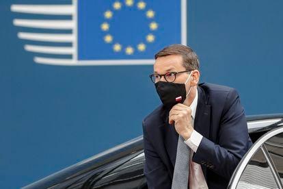 El primer ministro polaco, Mateusz Morawiecki, en el Consejo Europeo, en Bruselas, el pasado 24 de junio.