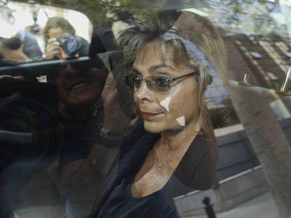 La exconcejal del PP de Valencia María José Alcón tras declarar ante el juez en una imagen de archivo.