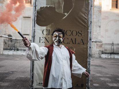 Actuación callejera en la edición de 2019 de Clásicos en Alcalá.