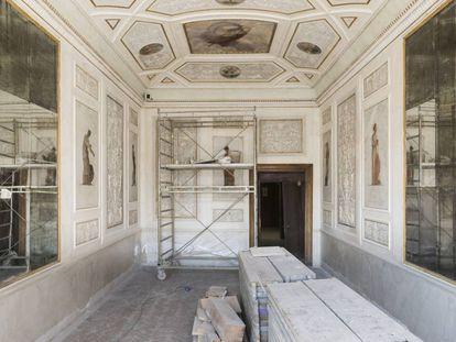 Venezia, Procuratie Vecchie. Lavori di restauro