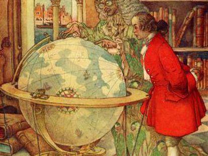 Ilustración de R. G. Mossa para 'Los viajes de Gulliver', de Jonathan Swift.