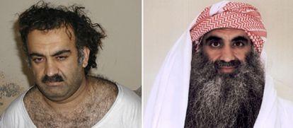 Mohammed, autor intelectual de los atentados del 11-S, tras su captura en 2003 (izquierda) y en Guantánamo este año (derecha).