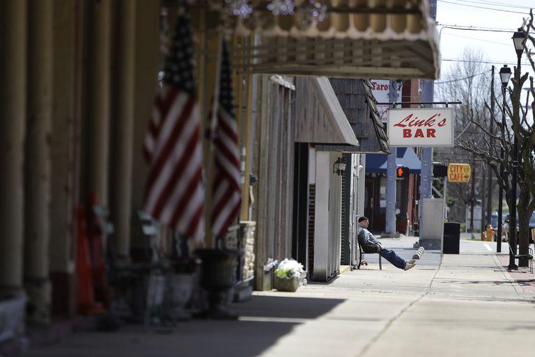 Una calle de Greensburg, en el Estado de Indiana.