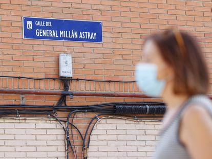 La calle General Millán Astray, este miércoles en Madrid.