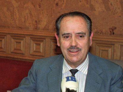 Eugenio Fontán durante una entrevista en 1994.