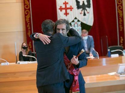 Toma de posesión del nuevo alcalde de Alcobendas, Aitor Retolaza.