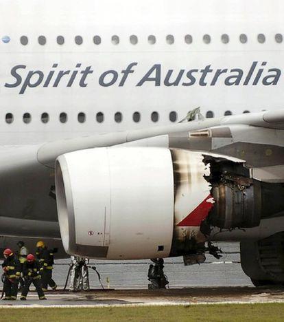 Un avión Airbus A380 de la compañía australiana Qantas aterriza de emergencia en el aeropuerto de Singapur tras sufrir problemas técnicos mientras sobrevolaba Indonesia.