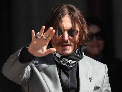 Johnny Depp, a su salida de la corte de Londres el pasado julio.