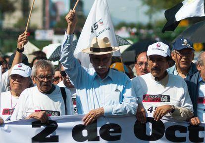 Hernández Gamundi (centro), durante la protesta de 2013.