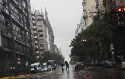 Avenida Belgrano, en Buenos Aires.