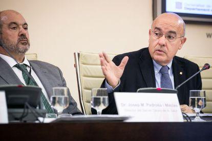 El consejero de Salud, Boi Ruiz, en una comparecencia en el Parlament en octubre pasado