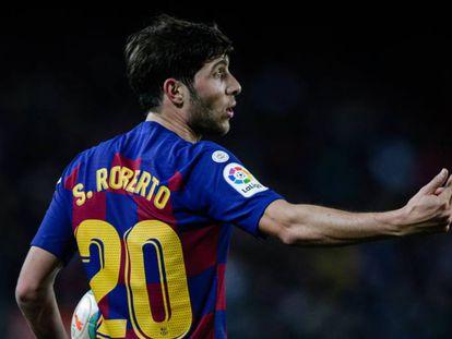 Sergi Roberto, durante el encuentro ante el Mallorca.