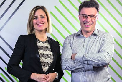 Diana Díaz y Stéphane Maraut, los responsables de este proyecto de la entidad bancaria.