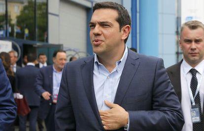 El primer ministro griego, Alexis Tsipras, este jueves en Rusia. G