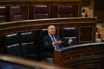 El ministro de Educación, José Ignacio Wert, en la sesión de control  en el Congreso del pasado día 27.