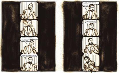 Viñeta de 'Cortázar' (Nórdica), cómic de Marchamalo y Torices.