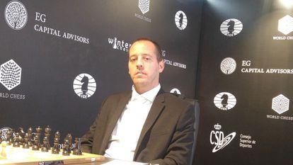 Paco Vallejo, el pasado noviembre, durante el Gran Premio de la FIDE en Palma de Mallorca